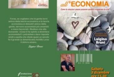 SABATO 3 DICEMBRE A SOCI INCONTRO CON L'ECONOMISTA LUIGINO BRUNI